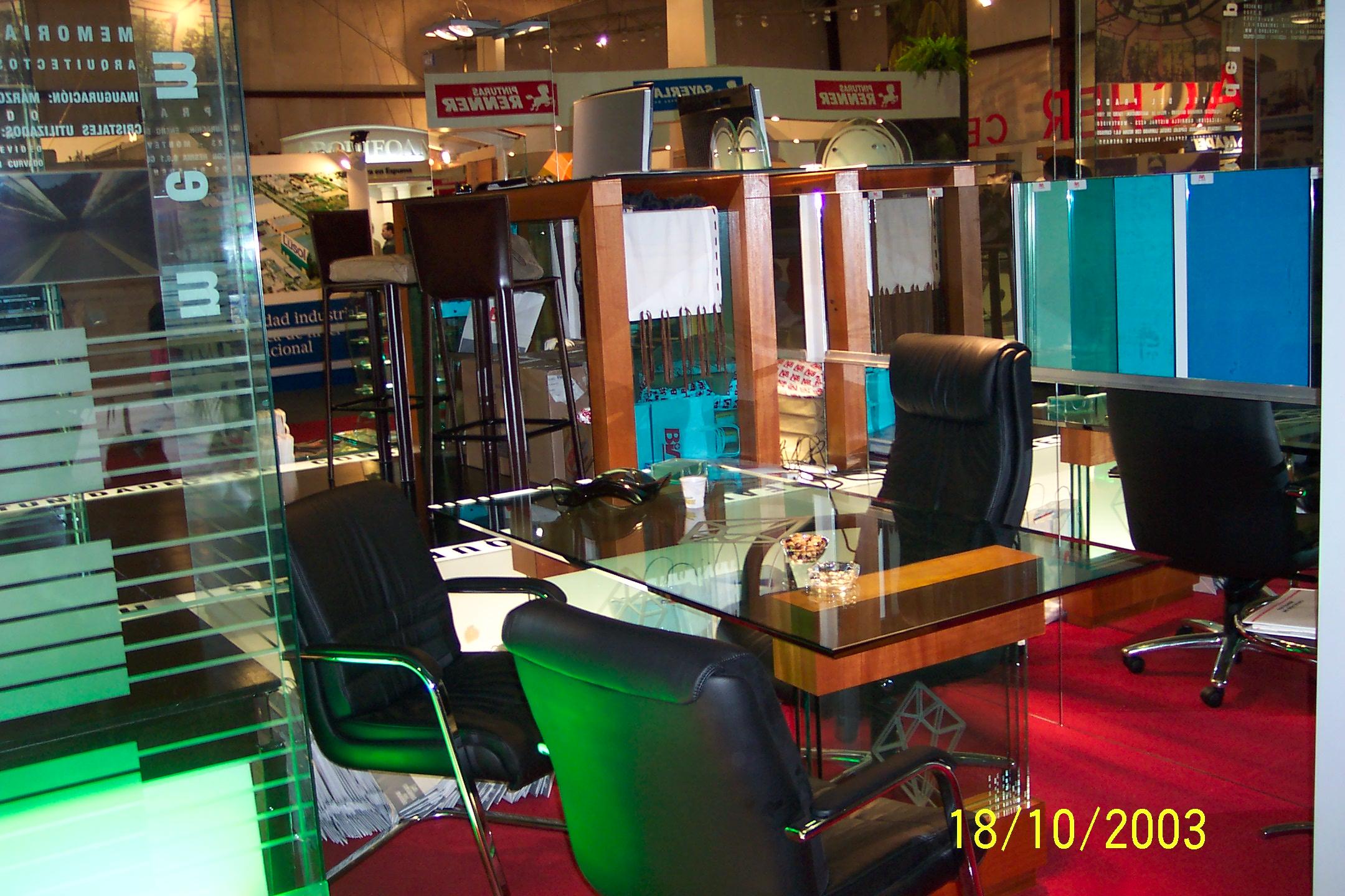 Stand de Vidriería Bia en Feria de la Construcción 2003/2005